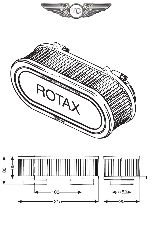 FILTRO ARIA PER ROTAX 582 BICARBURATORE