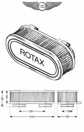 FILTRO ARIA PER ROTAX 582 BICARBURATORE id=